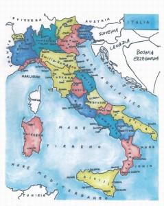 ②イタリア地図